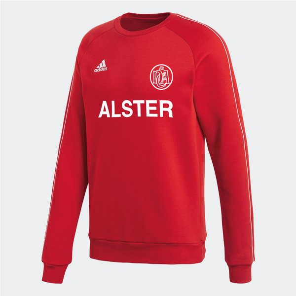 DCADA Adidas Core Sweatshirt Youth / Alster-Schriftzug / Red