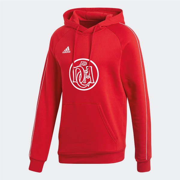 DCADA Adidas Core Hooded Sweat Youth / Logo / Red