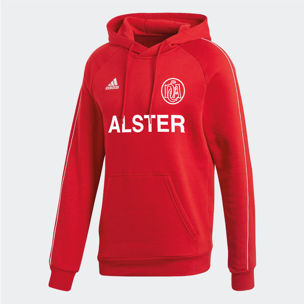 DCADA Adidas Core Hooded Sweat Youth / Alster-Schriftzug / Red